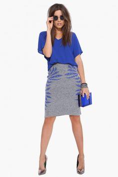 Bliss Chiffon Tee Shirt in Cobalt blue   Necessary Clothing
