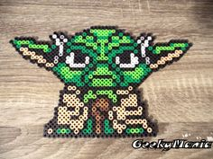 Star Wars Yoda Perler Beads by GeekyMania