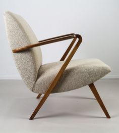 A.A. Patijn; Teak 'Poly-Z' Lounge Chair for Zijlstra, 1950s.