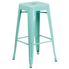 Features: -Designed for indoor and outdoor use. -Protective rubber floor glides. Frame Material: -Metal. Seat Material: -Metal. Style: -Industrial/Contemporary. Seat Style: -Square. Stackable: