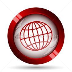 Stock vector illustration for creative professionals. Unique button for design projects. Web Design Icon, Find Icons, Globe Icon, Website Icons, Corporate Design, Vector Design, Vector Icons, Geography, Stencils