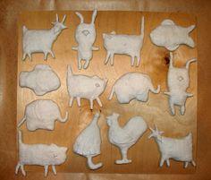 Spun cotton ornaments - how to make by Natasha Derjabina