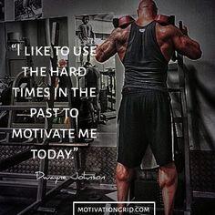 Hard times Dwayne Johnson motivational image wallpaper quote