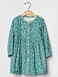 Floral ruffle cord dress