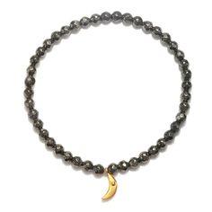 Moon Pyrite Bracelet - Solstice - Bracelets - Shop | Satya Jewelry