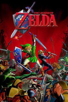 Póster Legend of Zelda, batalla Estupendo póster con la imagen de Link perteneciente al popular videojuego Legend of Zelda.