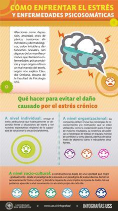 Cómo enfrentar el estrés y enfermedades psicosomáticas #infografia