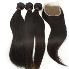 "Lanova Beauty Women's 3Bundles+1Closure Brazilian Straight Hair Raw Virgin Remy Human Hair Extensions 3Pcs10""3 and 1piece Remy Hair Closure(44)10"". 100% remy human hair with full cuticle and all in the same direction. With no artificial or non-human hair mixed in. Can be dyed to any color. It can also be permed, straightened, tongued and treated just like your own natural hair. Holding good texture for long time and no shedding, lasting silky shining and soft. About 100g/bundle. From 12""…"