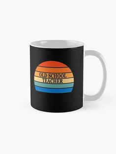 """Old school teacher vintage style"" Mug #redbubbleartists Funny Teacher Gifts, Teacher Humor, School Teacher, School Fashion, Vintage Fashion, Vintage Style, Cyber, Old School, Mugs"