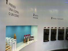Selfie Ice Cream, self service gelato store located in via Tuscolana (Rome, Italy).