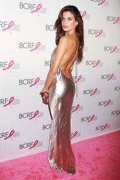 Sara Sampaio.. Marc Jacobs silk blend lamé gown..