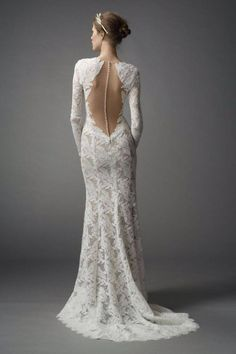 backless / escote en la espalda / Wedding Dress / vestido de novia
