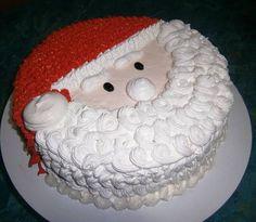 Christmas Themed Cake, Christmas Cake Designs, Christmas Cake Decorations, Christmas Snacks, Holiday Cakes, Christmas Baking, Easy Cake Decorating, Cake Decorating Techniques, Wedding Cake Boards