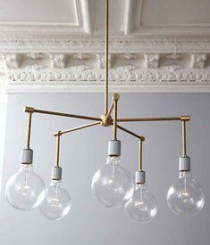 DIY Brass Globe Stilnovo Chandalier, Mid Century modern, Budget Home decor, chandelier, light fixture, how-to and tutorial