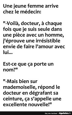 Une jeune femme arrive chez le médecin... - RIGOLOTES.fr New Years Eve Party, Funny Pictures, Funny Quotes, Jokes, Messages, Humor, Origami, Football, Instagram