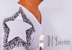 DIY-camiseta-pintada-estarcido-sello-tinta-estrella-DIYviertete