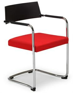 Wait - Visitors chair with fully upholstered seat and polypropylene back. Reception Furniture, Stylish Office, Upholstered Chairs, Tub Chair, Chrome, Luxury, Room, Home Decor, Bedroom