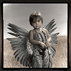 Joseph traveled with his parents all the way from Window Rock, Arizona, to dance in the Crow powwow in Montana. He actually decided to start dancing in powwows when he was just nine months old. As the first in his immediate family to participate in traditional Navajo dance, Joseph represents a general return to Native American culture.