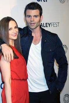 Daniel and wifey Rachel Leigh Cook. They are adorable.