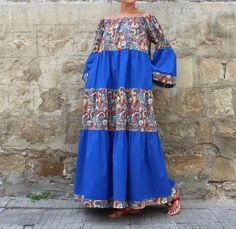 Boho dress Maxi Dress Cotton Maxi Dress by cherryblossomsdress