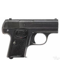 Dreyse semi-automatic pistol, .25 caliber, 2'' barrel. Serial #17509. - Price Estimate: $50 - $100