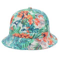 Bucket Hat Girls Green Hawaii Hunting Fishing Outdoor Cap Pointed Cotton Goldtop #Goldtop #Bucket