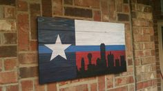 Texas Thin Blue Line  with Dallas Skyline