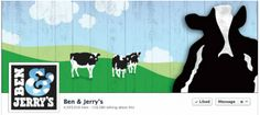 Ben & Jerry's reminds us where their ice-cream comes from with an idyllic pasture scene.