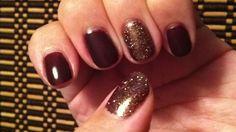Shellac : fedora cnd shellac color with  rockstar glitter! Love!!