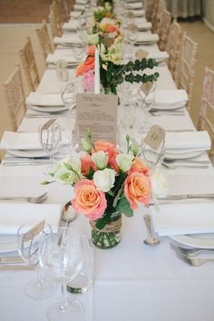 pink and white table decoration