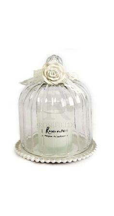 Glass Dome Candlepot Set 2a @ rosefields.co.uk