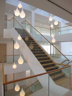 Raining stairway - Drops 2 by Illum Kunstlicht