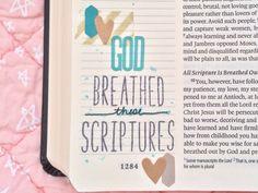Journaling Bible - God Breathed | www.laurentaylormade.com