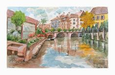 Aquarelle: Colmar - Alsace - France France is definitely one of the most geographically distinctive countries within Europe. The towns…