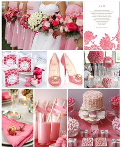 ドリンクまでピンク色!ピンクがテーマのウェディング。