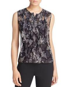 Elie Tahari Estella Floral Silk Ruffle Blouse | Bloomingdale's