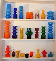 Alsterfors & Holmegaards Mid Century Modern Art, Mid Century Design, My Glass, Glass Art, Colored Vases, Murano, Art Nouveau, Glass Ceramic, Modern Glass