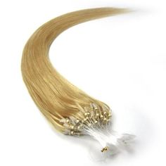"""22"""" Loop Micro Ring Beads Tipped Remy Human Hair Extensions 100s 24 Golden Blonde for Women's Beauty Hairsalon in Fashion by lilu. $40.00. We guarantee 100% human hair AND Loops tipped ,We guarantee 100% human hair could be applied with micro rings. Adds instant length and volume. Can be curled, straightened, tongued & washed. 100% remy human hair extensions and very competitive price.. Kindly Remind ,this is US registered certified Brand, we have not authorized another seller to..."""