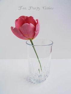 Gumpaste Tulip Tutorial - by Tea Party Cakes @ CakesDecor.com - cake decorating website