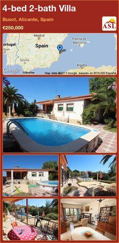 4-bed 2-bath Villa in Busot, Alicante, Spain ►€250,000 #PropertyForSaleInSpain