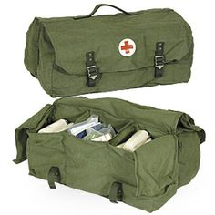 Swedish Medical Bicycle Bag With Bandages