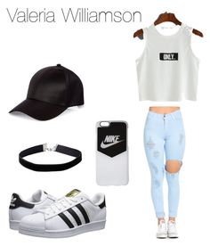 """""""Lol"""" by arianagrande1962 on Polyvore featuring adidas Originals, NIKE, River Island and Miss Selfridge"""