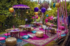 An ultimate oriental experience! Are you looking for unique and exciting decor ideas?Then you will love a Moroccan themed party! Jasmin Party, Princess Jasmine Party, Aladdin Birthday Party, Aladdin Party, Arabian Party, Arabian Nights Party, Henna Party, Disco Party, Moroccan Theme Party