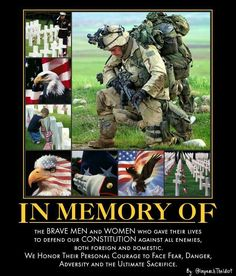 Honor The Fallen . We salute you . Military Veterans, Military Life, Military Salute, Military Quotes, Military Pictures, Military Humor, Military Service, Us Navy, Memorial Day Quotes