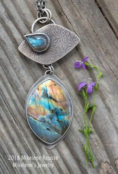 Sunrise ... Pendant .. sterling silver statement PENDANT/Focal piece contemporary METALSMITH Artisan jewelry by Mikelene