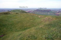 view of Cadbury Yeovil from glastonbury tor - Google Search