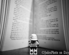 Star Wars™ LEGO® Stormtrooper 'Bookworm' Photograph by JodexPhoto. 5x7 for $13.00
