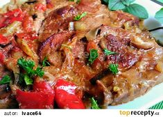 Beef, Red Peppers, Cooking, Meat, Steak