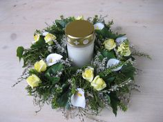 Grave Flowers, Funeral, Table Decorations, Gardening, Home Decor, Ideas, Natural Materials, Handmade Gifts, Crown Cake