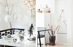 design attractor: Beautiful Christmas decorated house from Denmark